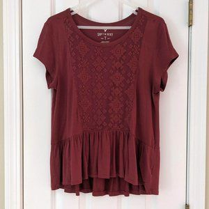 American Eagle Soft & Sexy Embroidered Tee, size M